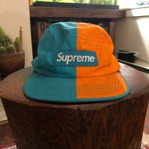 rare + authentic ✅ supreme split camp cap